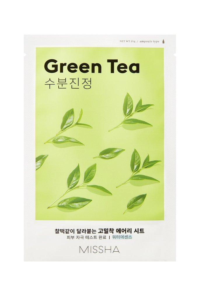 MISSHA Airy Fit Sheet Mask Green Tea - misumicosmeticsuk
