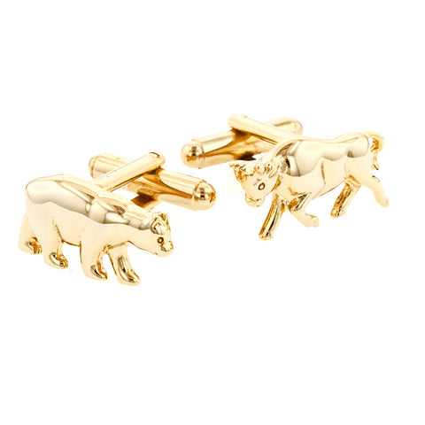 Bull and Bear Cufflinks