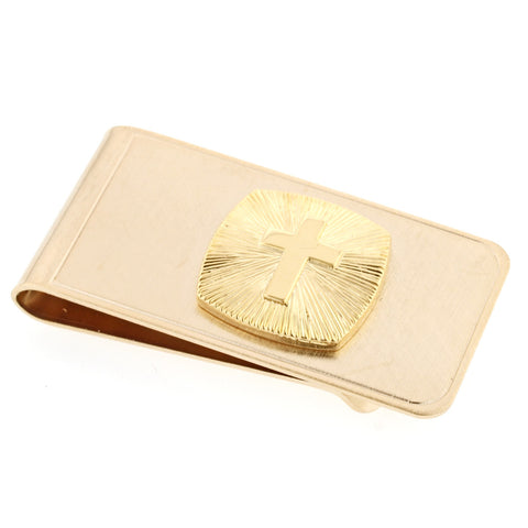 Cross and Sunburst Money Clip