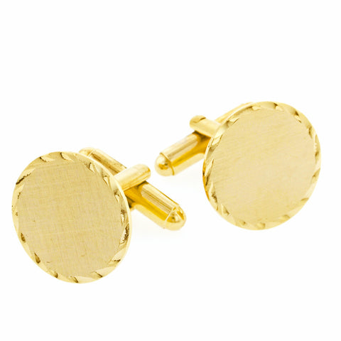 Scalloped Edge Cufflinks