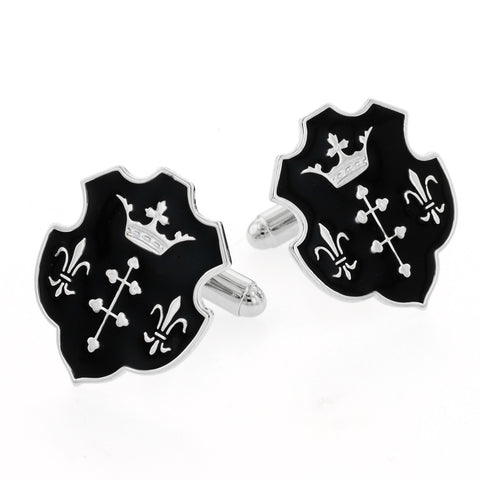 Fleur De Lis and Crown Cufflinks