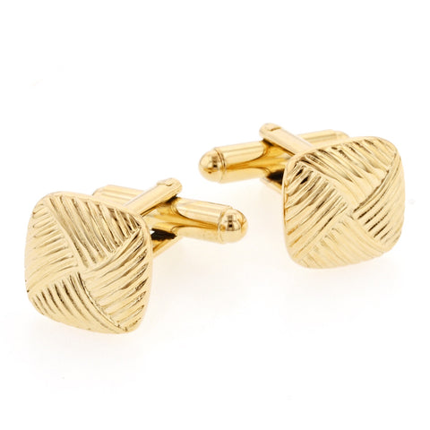 Basketweave Cufflinks