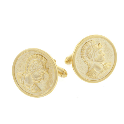 Ancient Warrior or Soldier Head Cufflinks