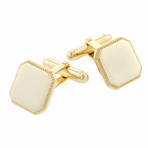 Beaded Edge Cufflinks