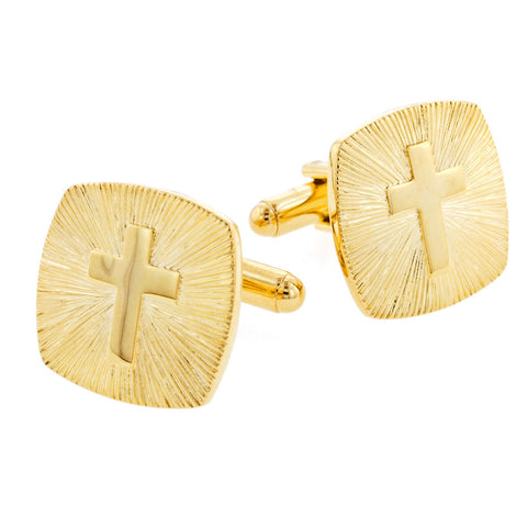 Cross and Sunburst Cufflinks