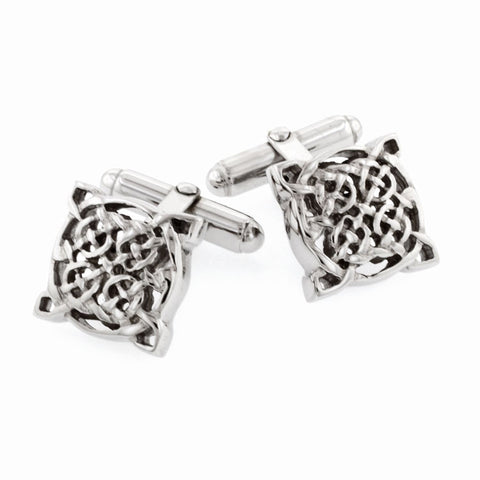 Sterling Silver Celtic Knot Cufflinks