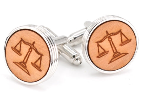 Wood Lawyer Cufflinks