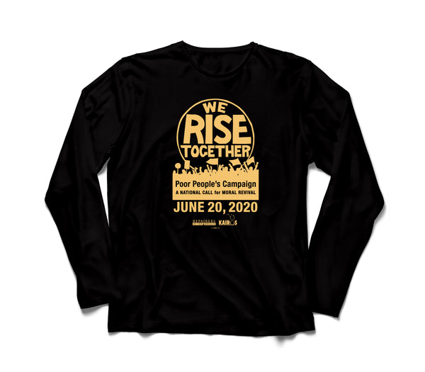We Rise Together Black Long Sleeve Tee