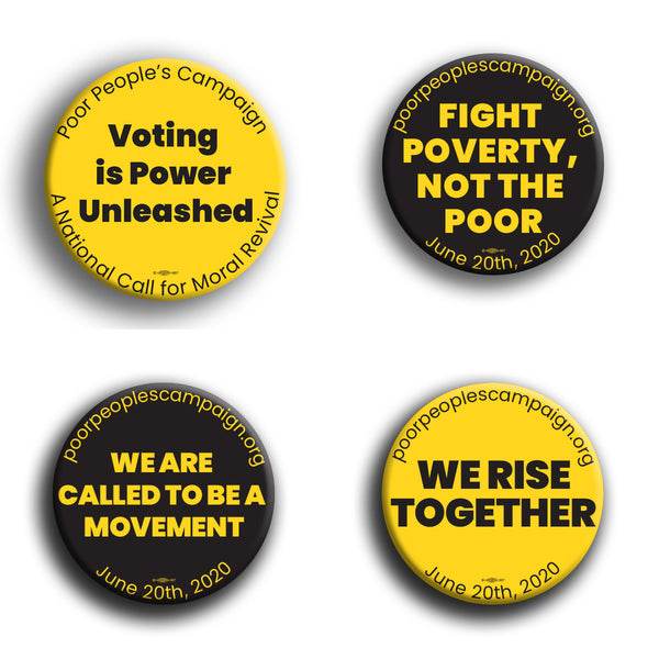 Poor Peoples Campaign Button Pack #5
