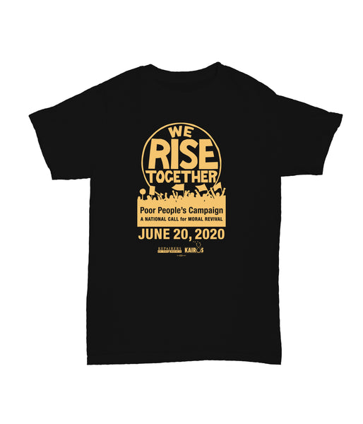 We Rise Together Black Tee