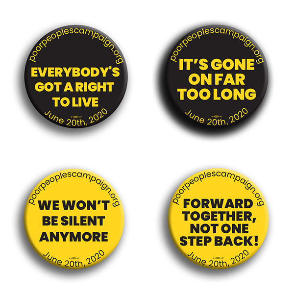 Poor Peoples Campaign Button Pack #1