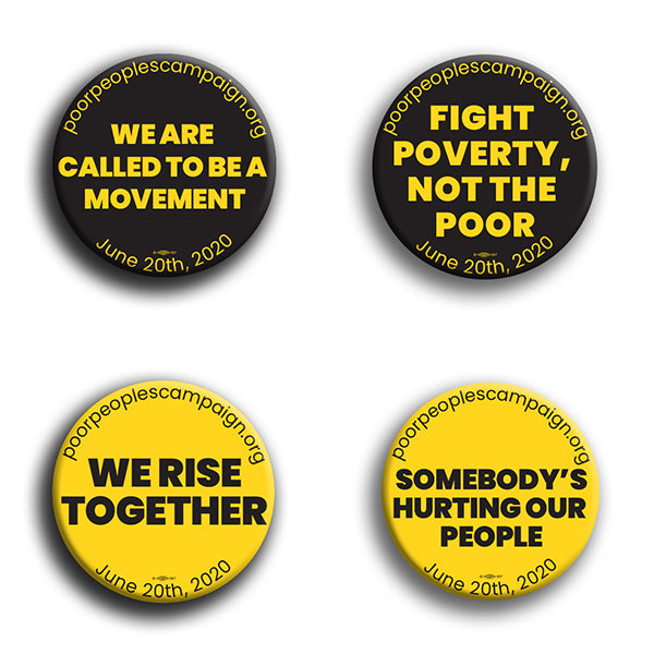 Poor Peoples Campaign Button Pack #2