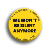 We Wont Be Silent Button