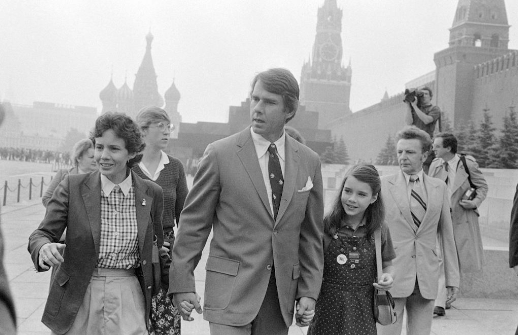 Samantha Smith and her family in the Soviet Union. Credit: Unknown