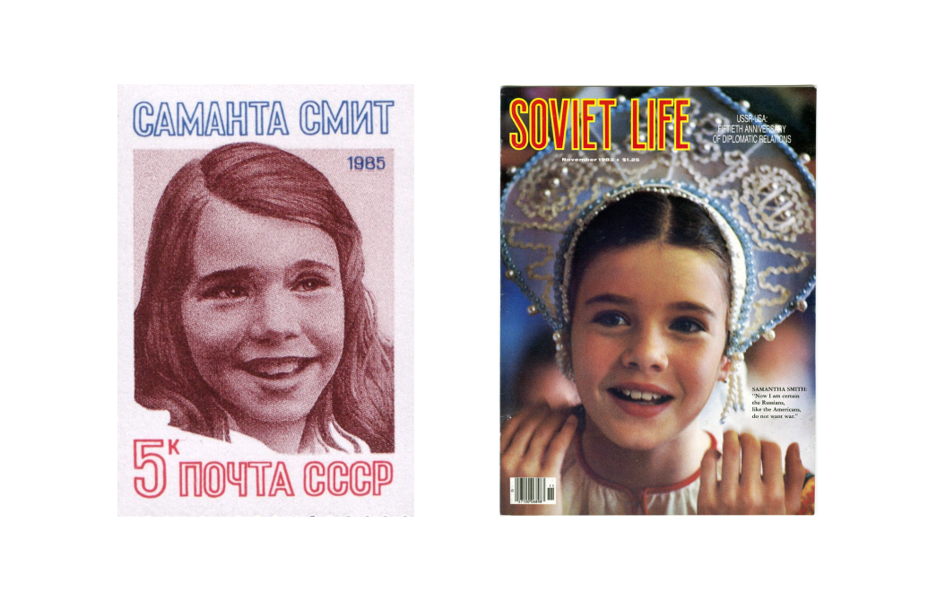 Samantha graced the cover of magazines and even appeared on a Soviet stamp