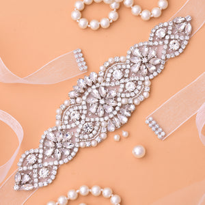 Dress Belt Crystal Wedding Sash