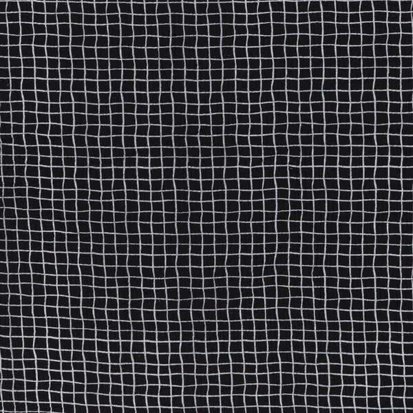 Muslin double gauze square / black and white