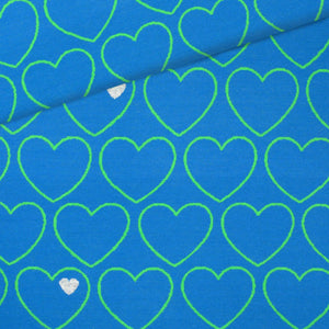 Heart knit / blue