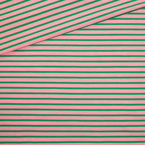 Stripes Jersey / pink green