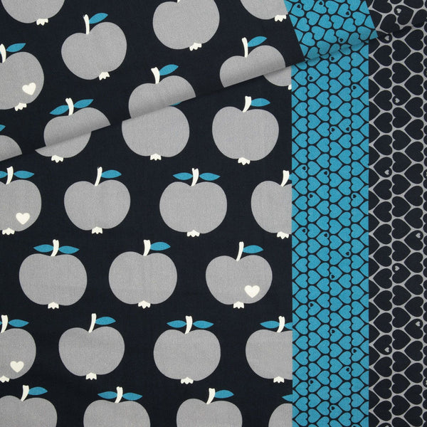 Canvas apples / black