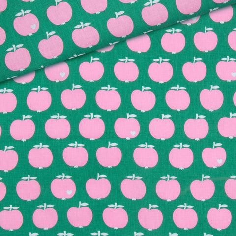 Apple Cotton /  pink green