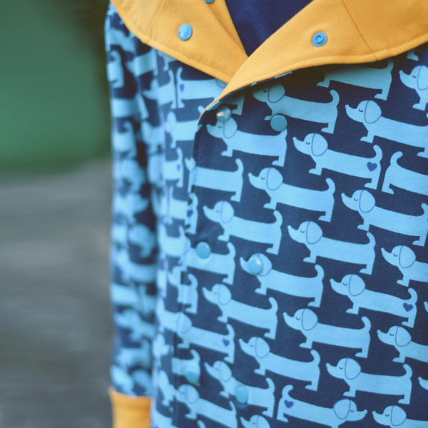 Sausage dog jersey / blue