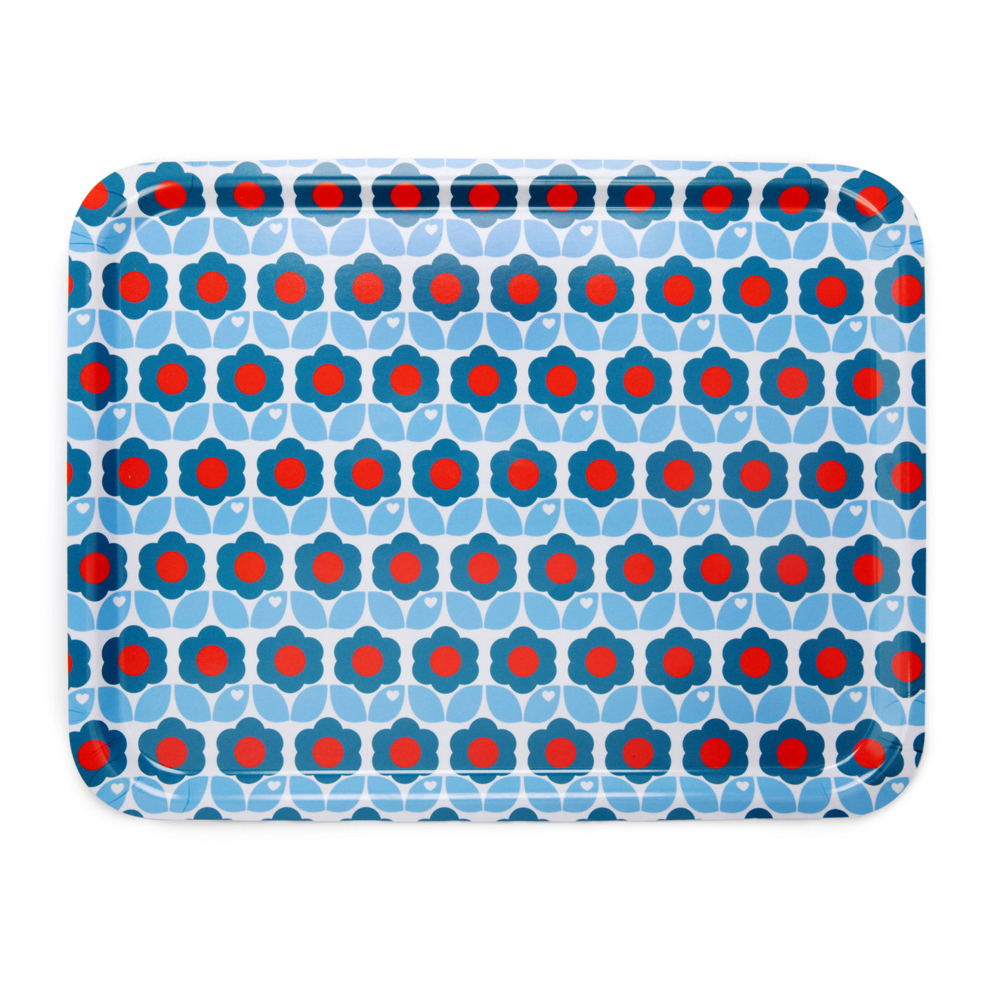 Retro flower tray / blue