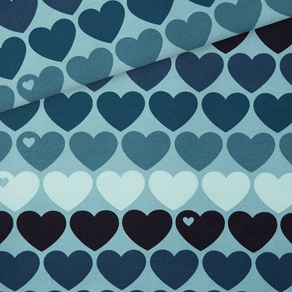 Heart Me French Terry / blue
