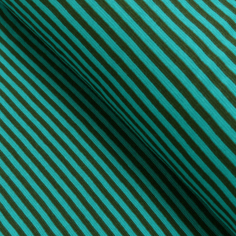 Cuff trim /  thin stripes / teal-brown