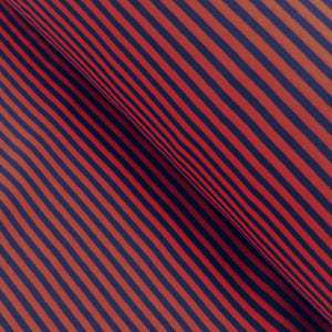 Cuff trim /  thin stripes / red-navy