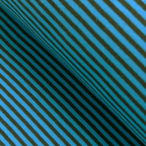 Cuff trim /  thin stripes / turquoise-brown