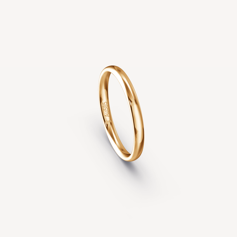 POLISHED BAND IN 14K APRICOT GOLD - 2.5MM