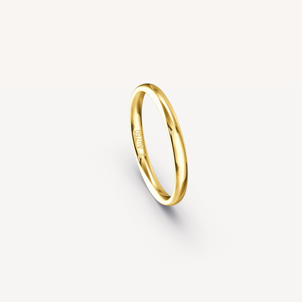 Polished Band in 18K Yellow Gold - 2.5mm