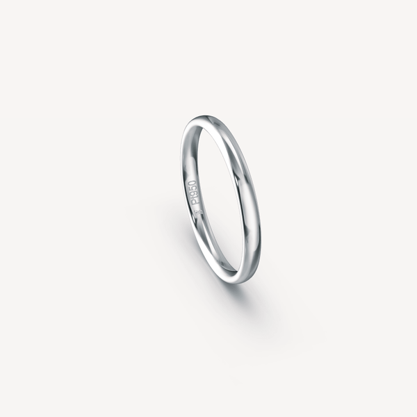Polished Band in Platinum (950) - 2.5mm