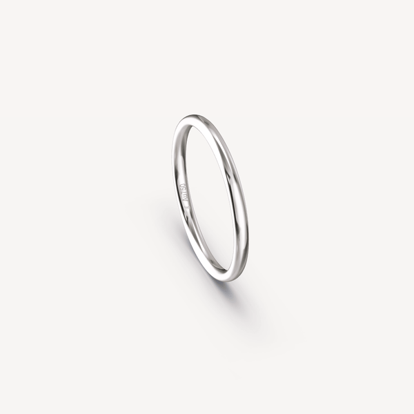 POLISHED BAND IN 18K WHITE GOLD - 2MM
