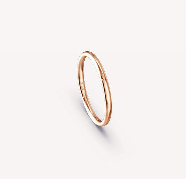 Polished Band in 18K Rose Gold - 2mm