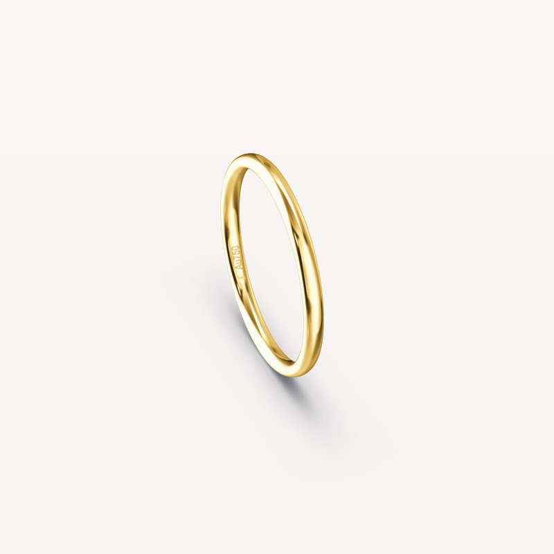 Polished Band in 18K Yellow Gold - 2mm
