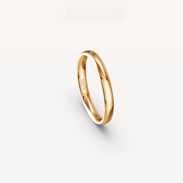 Polished Band in 14K Apricot Gold - 3mm