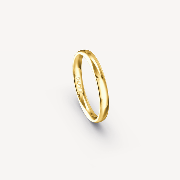 Polished Band in 18K Yellow Gold - 3mm