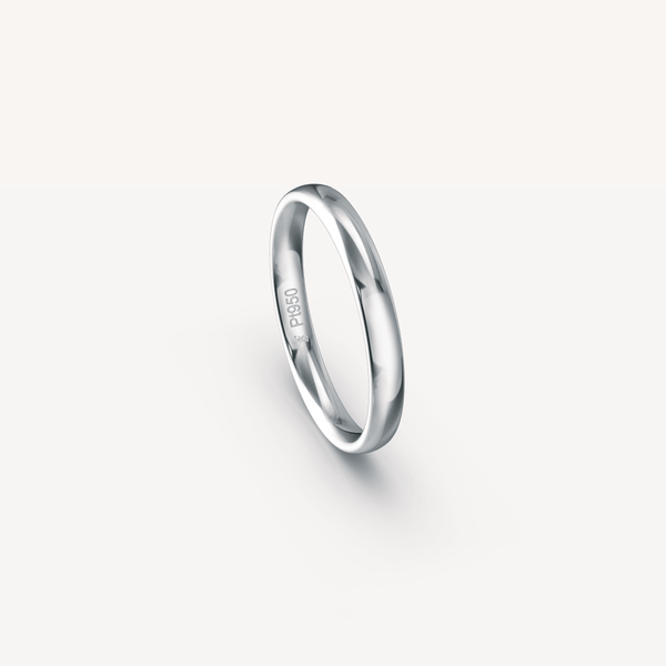Polished Band in Platinum (950) - 3mm