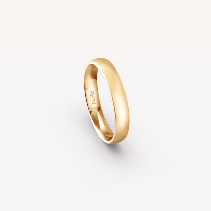 Fine Matt Band in 14K Apricot Gold - 4mm