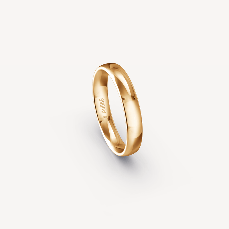 Polished Band in 14K Apricot Gold - 4mm