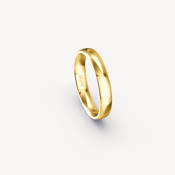 Polished Band in 18K Yellow Gold - 4mm