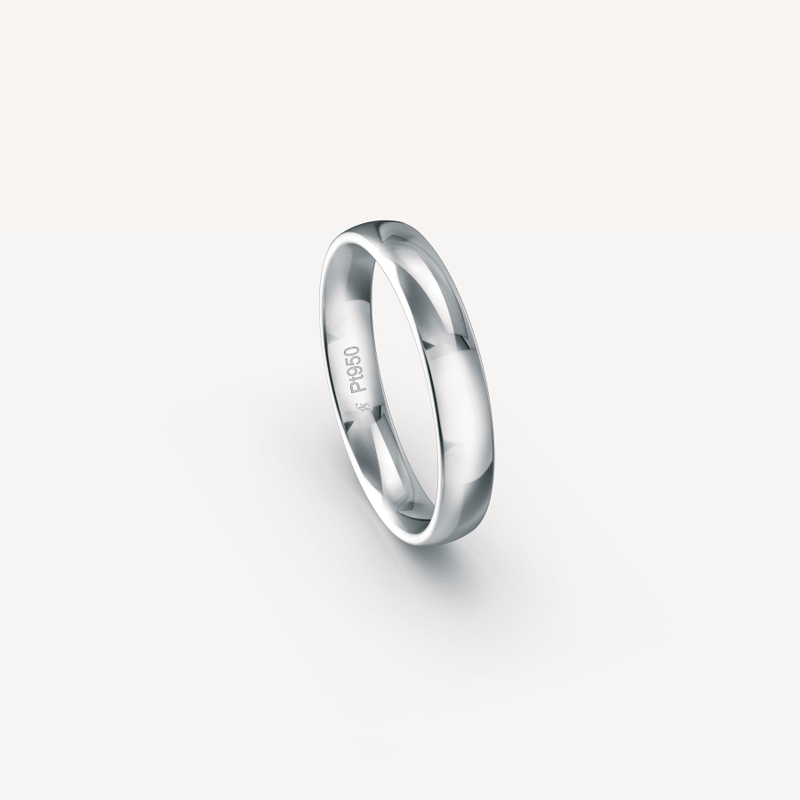 Polished Band in Platinum (950) - 4mm