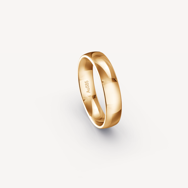 Polished Band in 14K Apricot Gold - 5mm