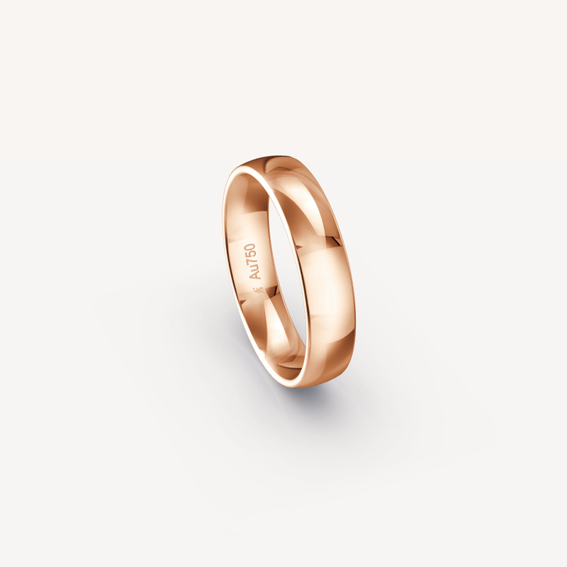 Polished Band in 18K Rose Gold - 5mm