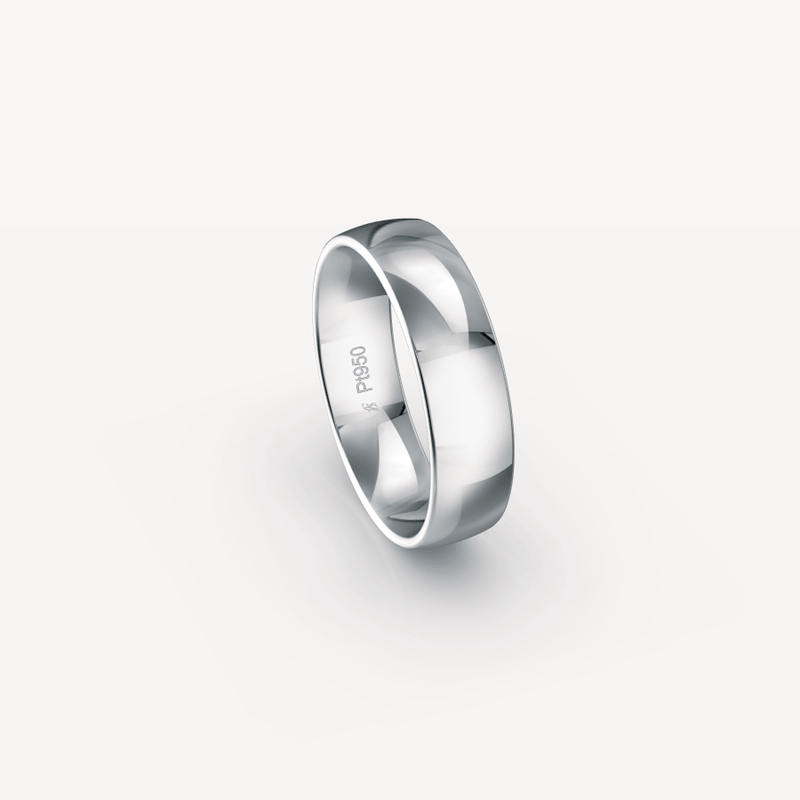 Polished Band in Platinum (950) - 6mm