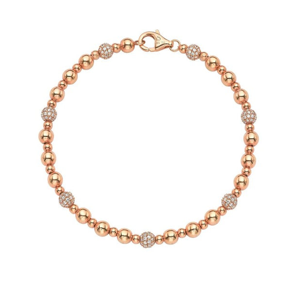 Roulette Rose Gold And Diamond Bracelet