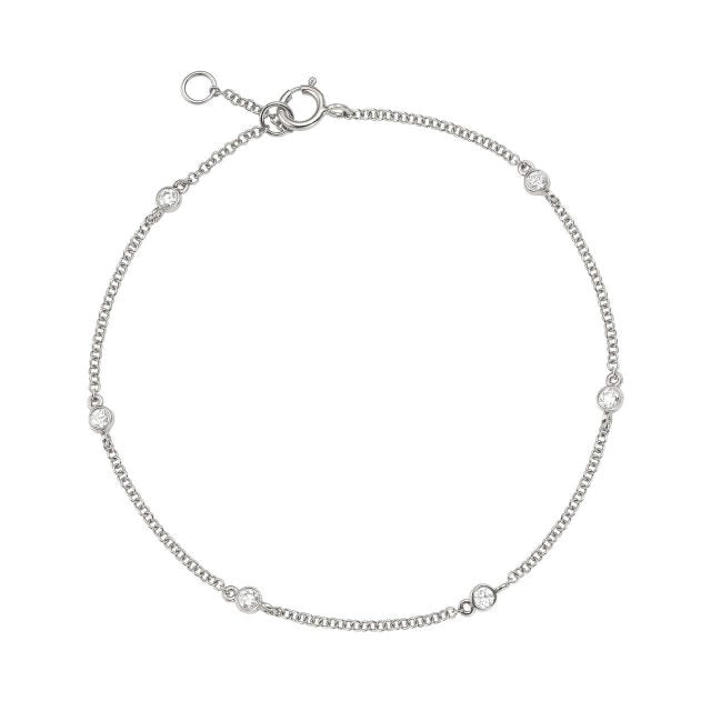 Timeless White Gold And Diamond Bracelet
