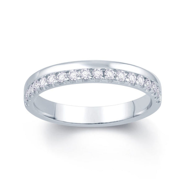 Claw Offset Wedding Band